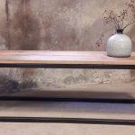 Strakke, eenvoudige salontafel.