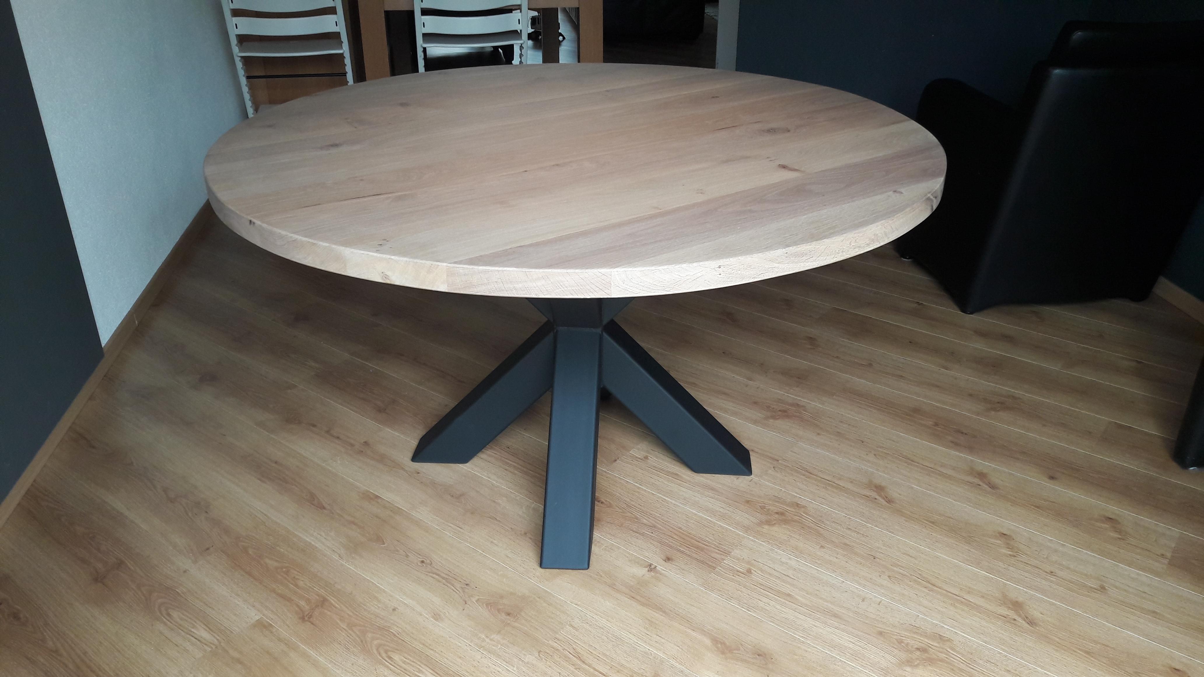 Ronde tafel met sterpoot   wimetaal nl